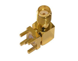 SMA PCB Mount Connector R/A Jack, female