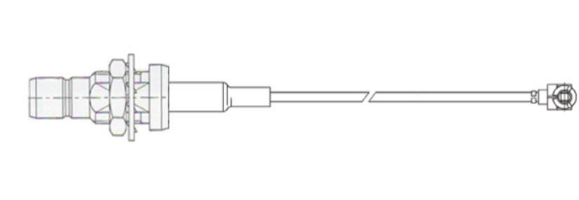 Cable 12.5cm, u.FL to SMB Bulkhead Fem