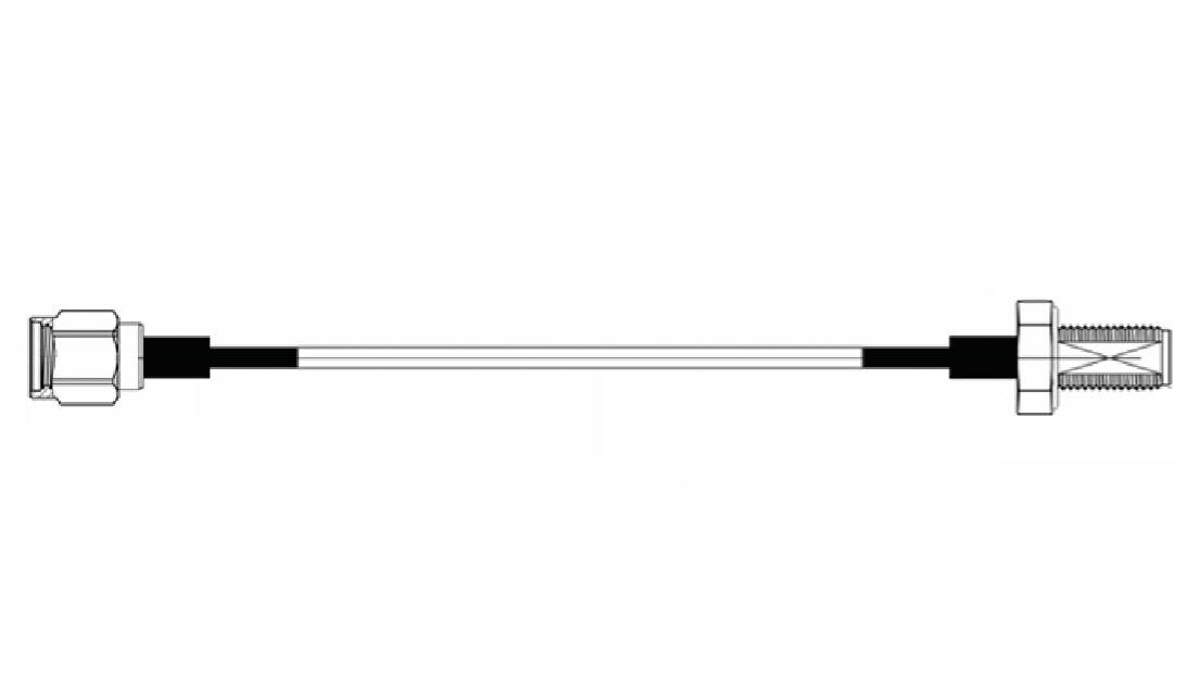 RF cable, 15 cm, SMA-Male & SMA-Female
