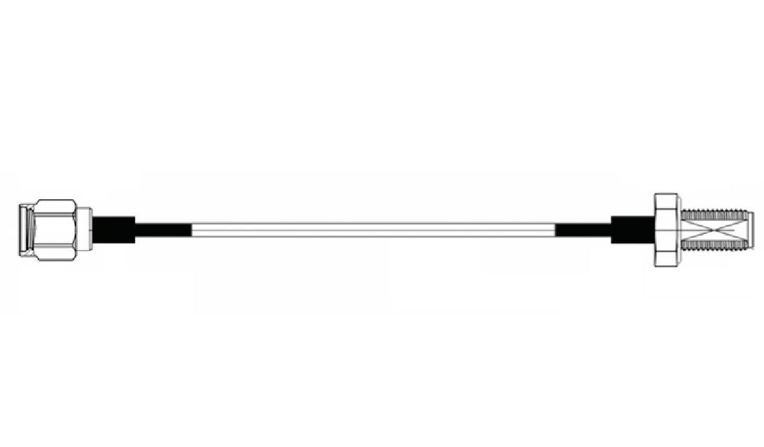 RF cable, 15 cm, SMA-M to SMA-F